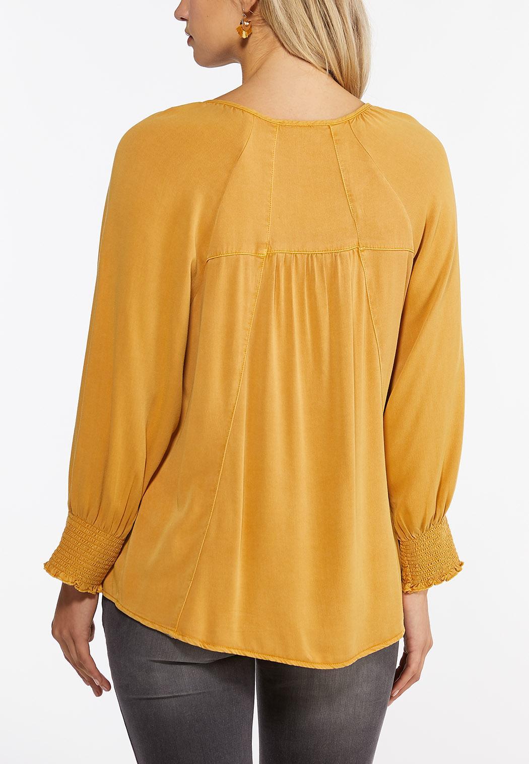 Plus Size Honey Smocked Top (Item #44404034)