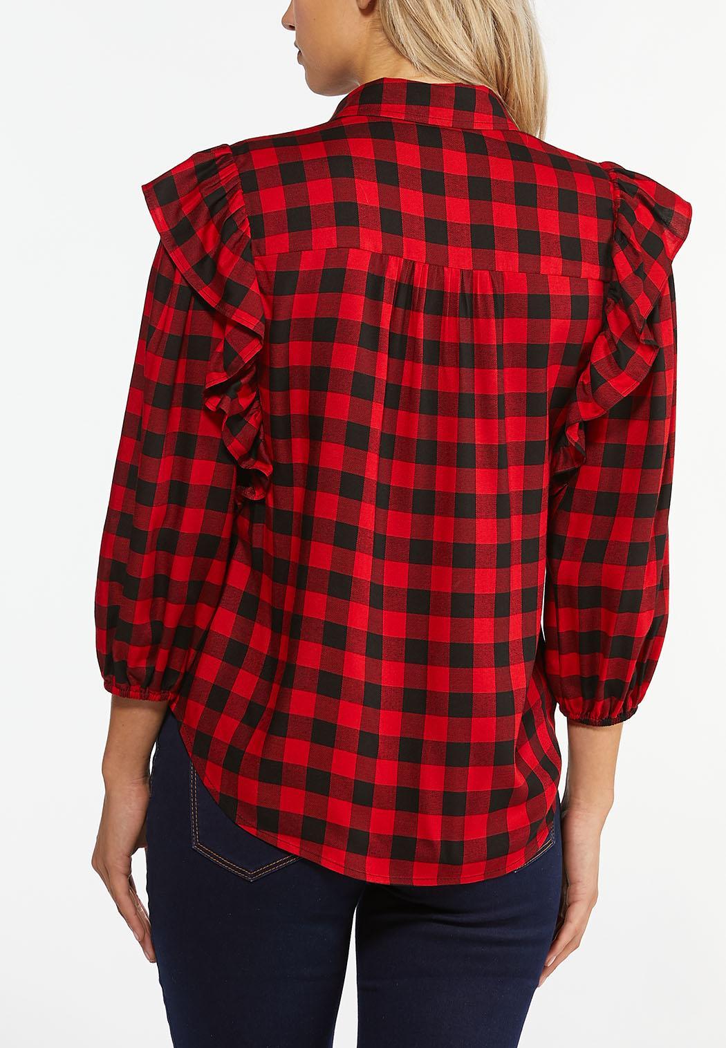 Ruffled Plaid Shirt (Item #44404463)