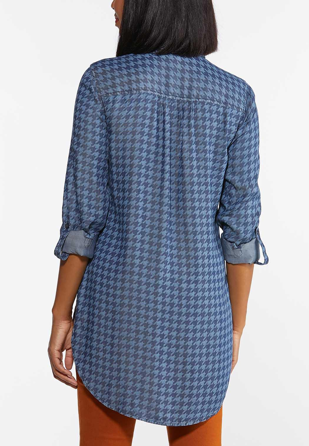 Chambray Houndstooth Tunic (Item #44404493)