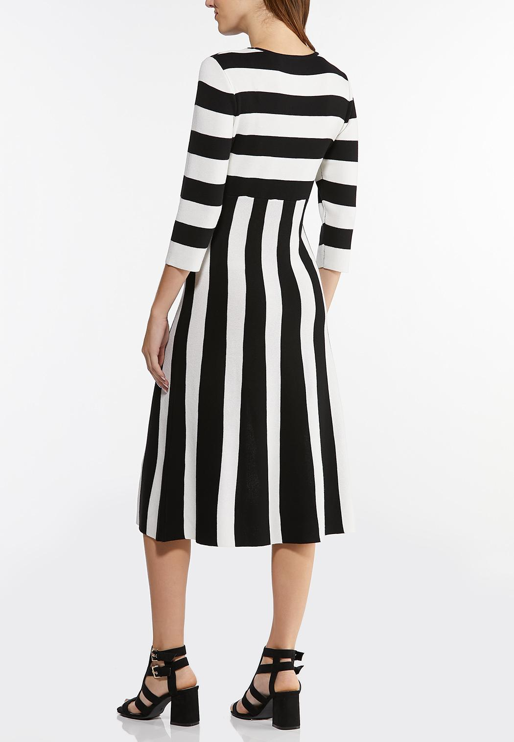 Plus Size Striped Sweater Dress (Item #44405152)