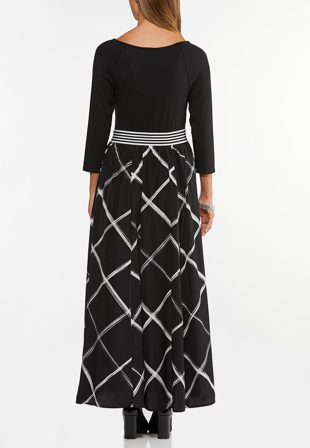 Striped Waist Maxi Dress (Item #44405322)
