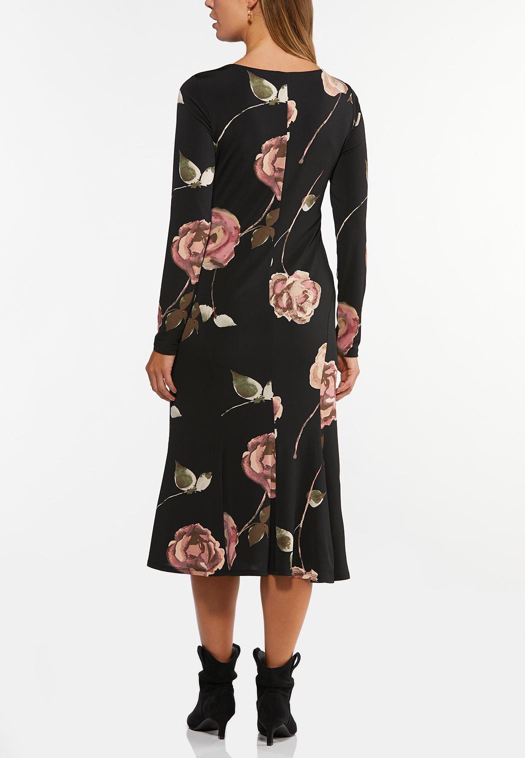 Plus Size Romantic Floral Midi Dress (Item #44405413)