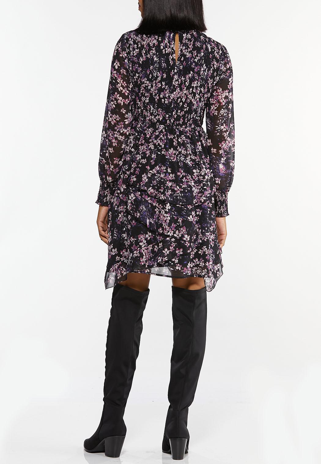 Lavender Floral Babydoll Dress (Item #44405436)