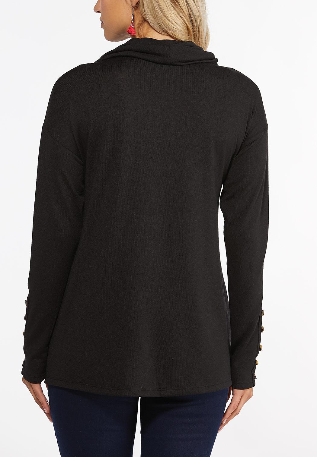 Plus Size Paisley Cowl Neck Top (Item #44405882)