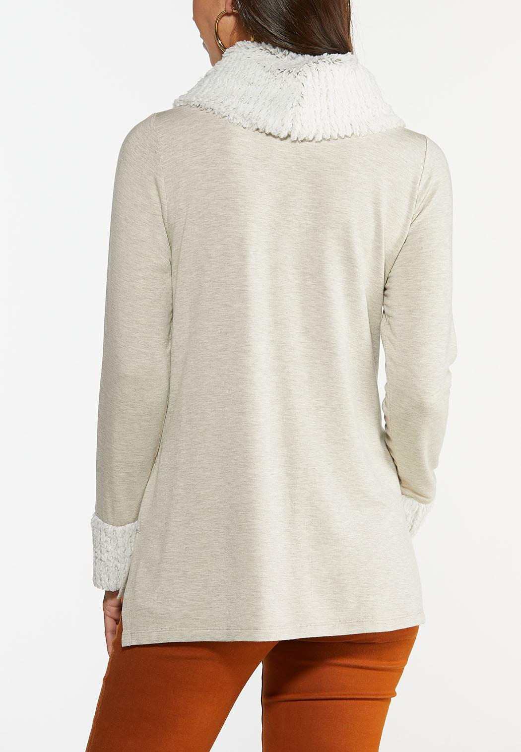 Faux Fur Collar Tunic (Item #44405927)