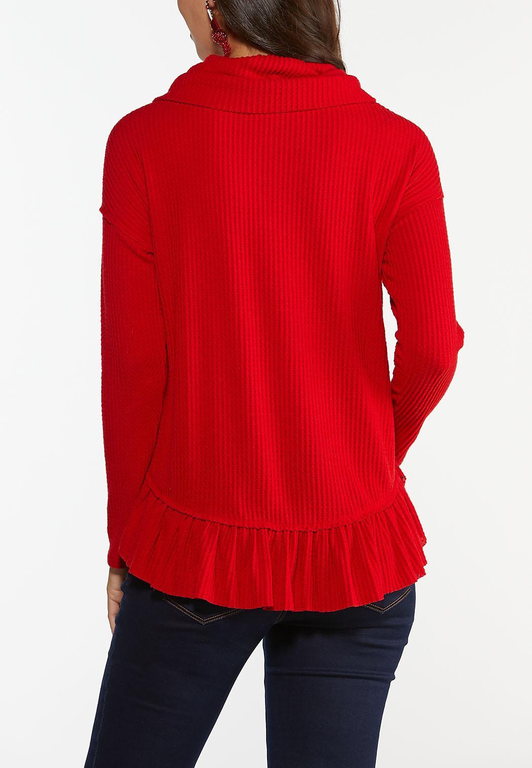 Cowl Neck Peplum Top (Item #44406005)