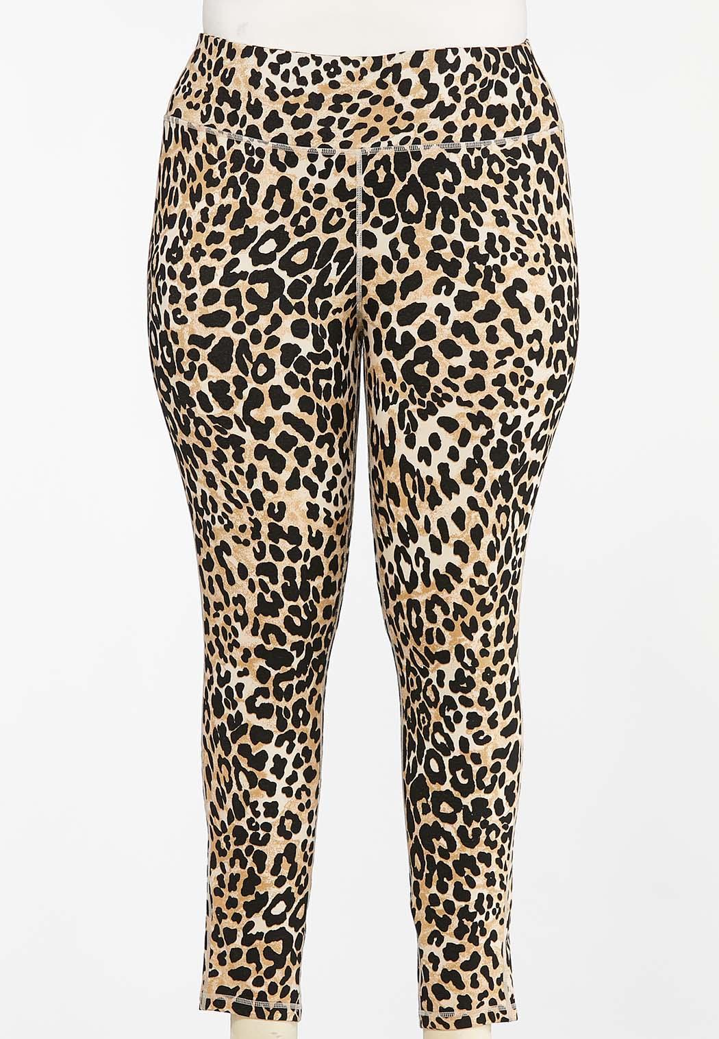 Plus Size Spotted Safari Leggings (Item #44406074)