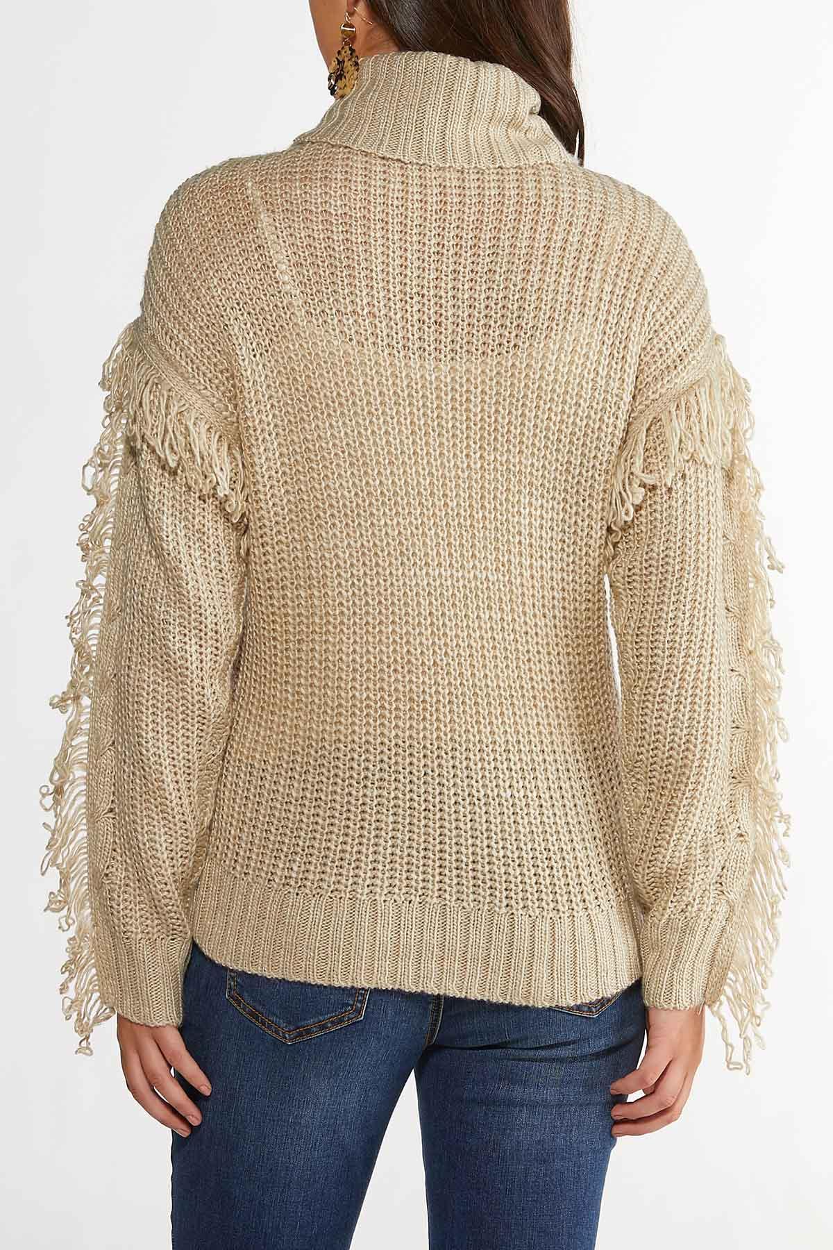 Fringe Turtleneck Sweater (Item #44406289)