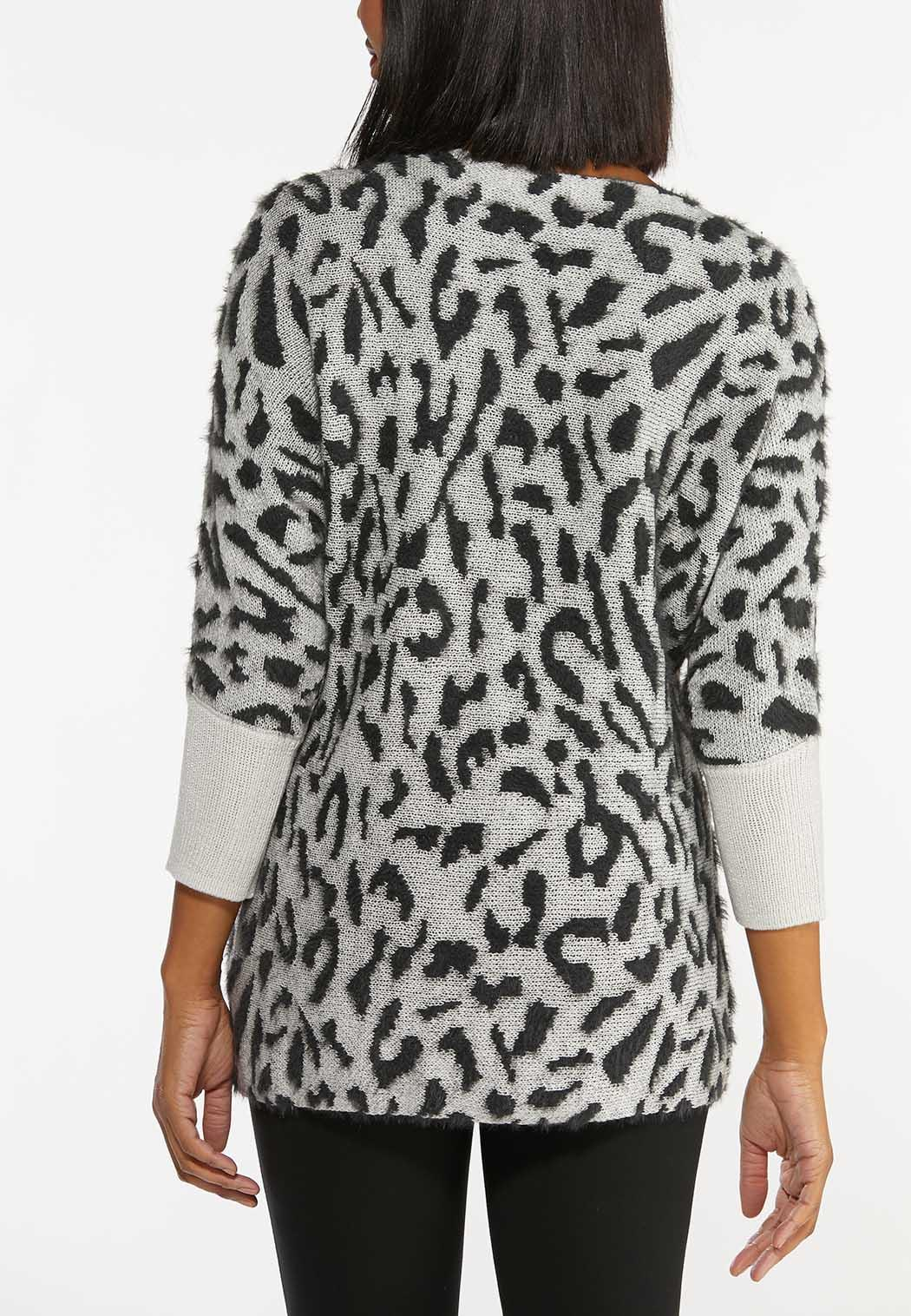 Shimmery Leopard Tunic Sweater (Item #44406732)