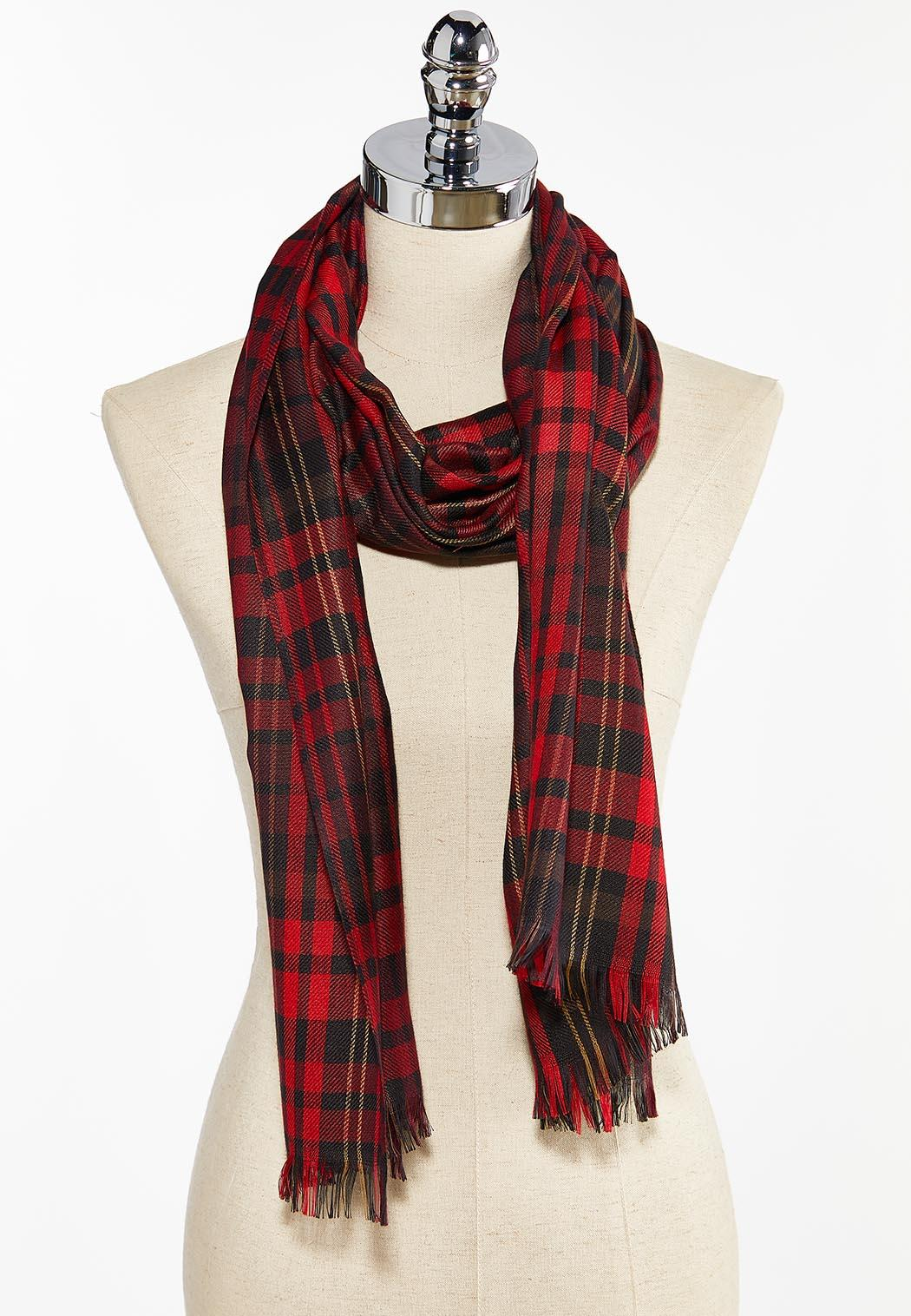 Colorful Plaid Oblong Scarf (Item #44406734)