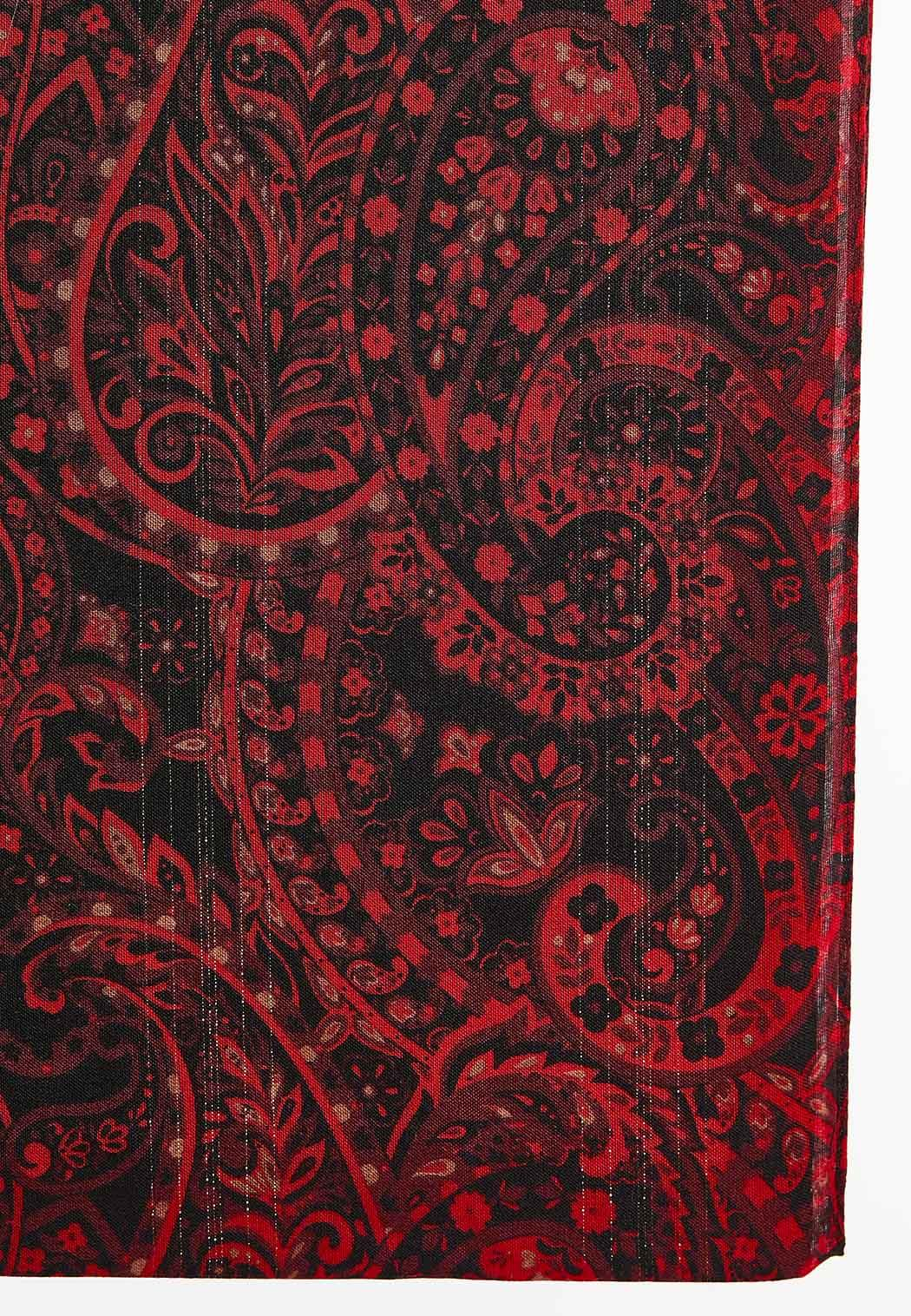 Red Paisley Infinity Scarf (Item #44406755)