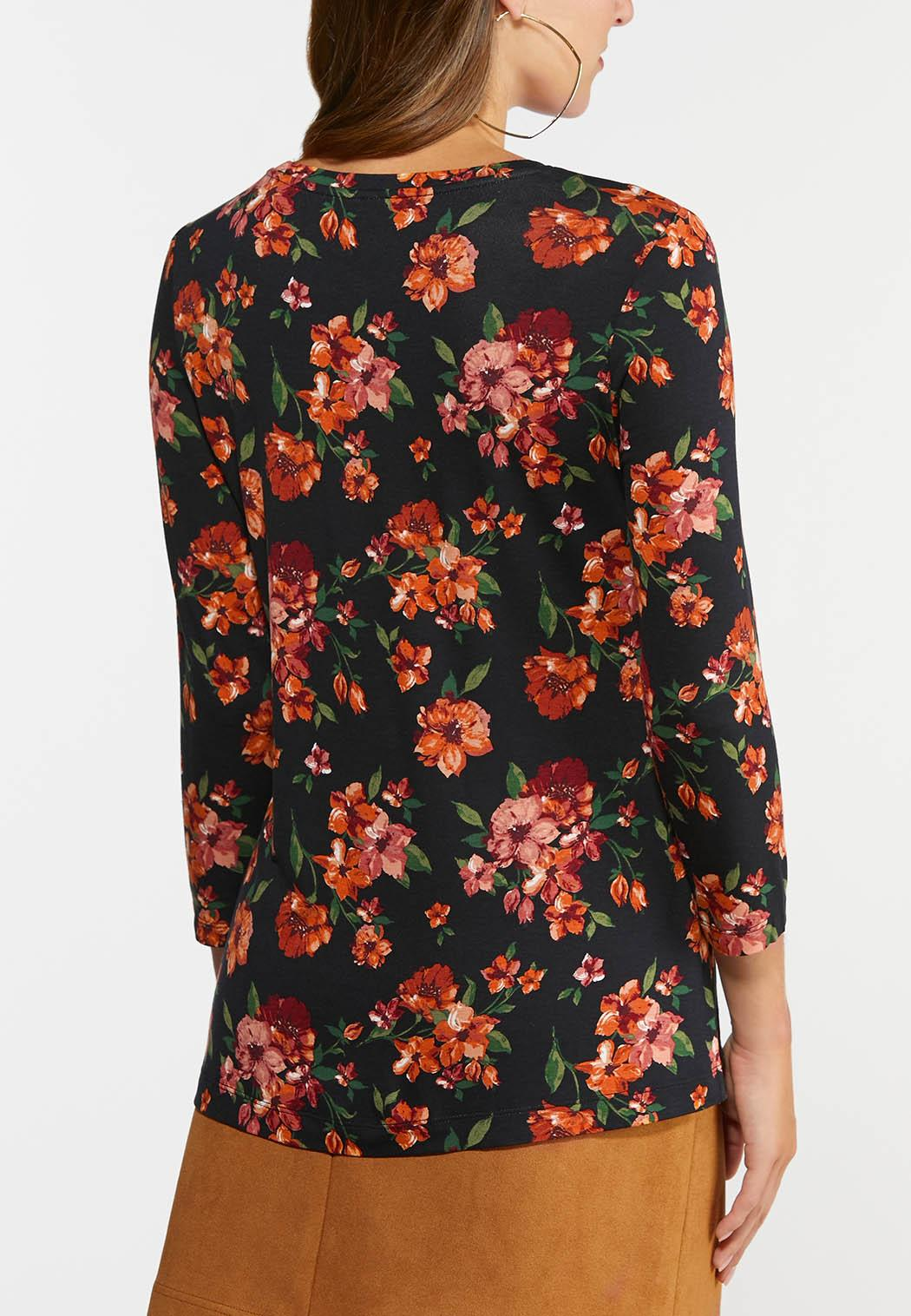 Plus Size Fall Floral Top (Item #44407614)