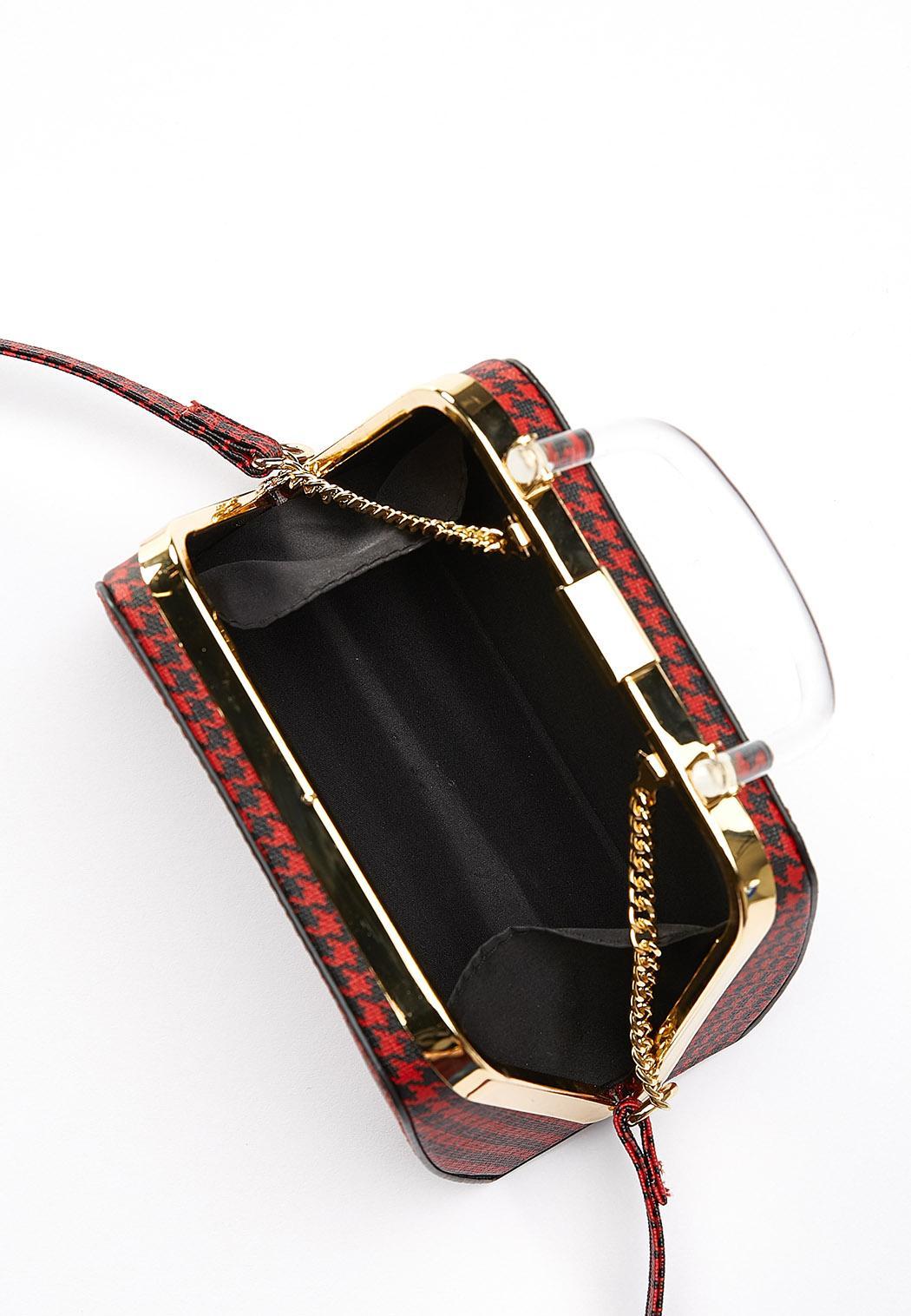 Mini Houndstooth Crossbody Bag (Item #44407703)