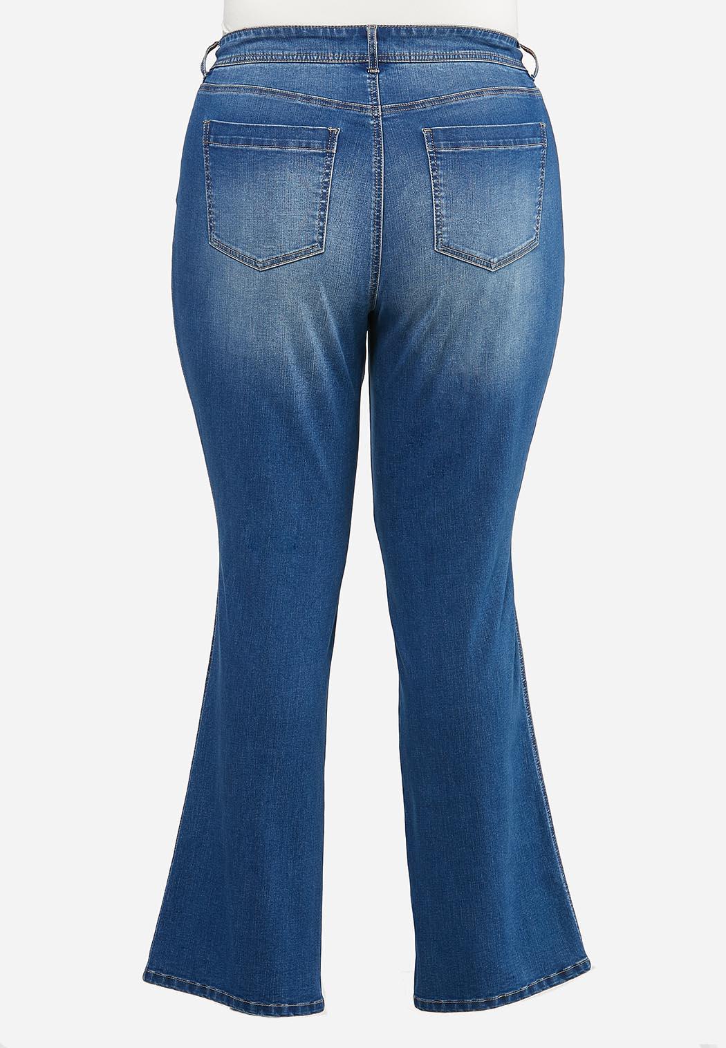 Plus Size Front Pocket Jeans (Item #44410816)