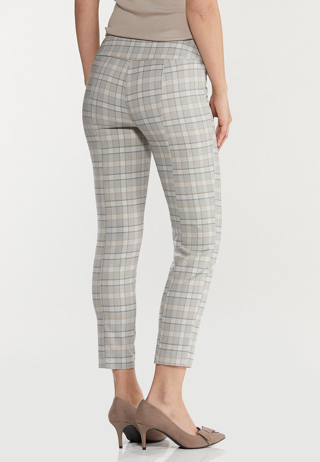 Plaid Slim Ankle Pants (Item #44411390)