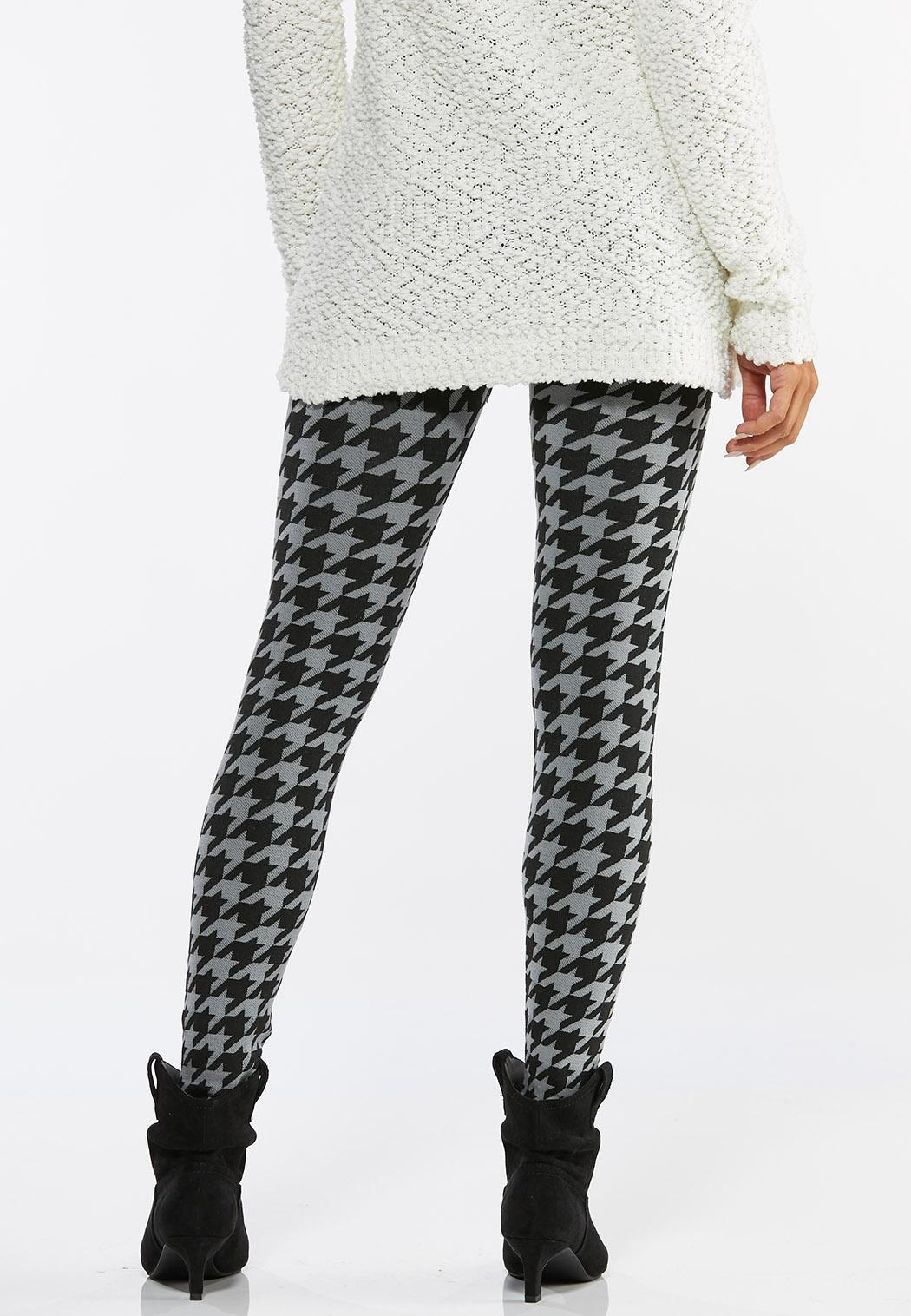 Houndstooth Fleece Lined Leggings (Item #44411670)