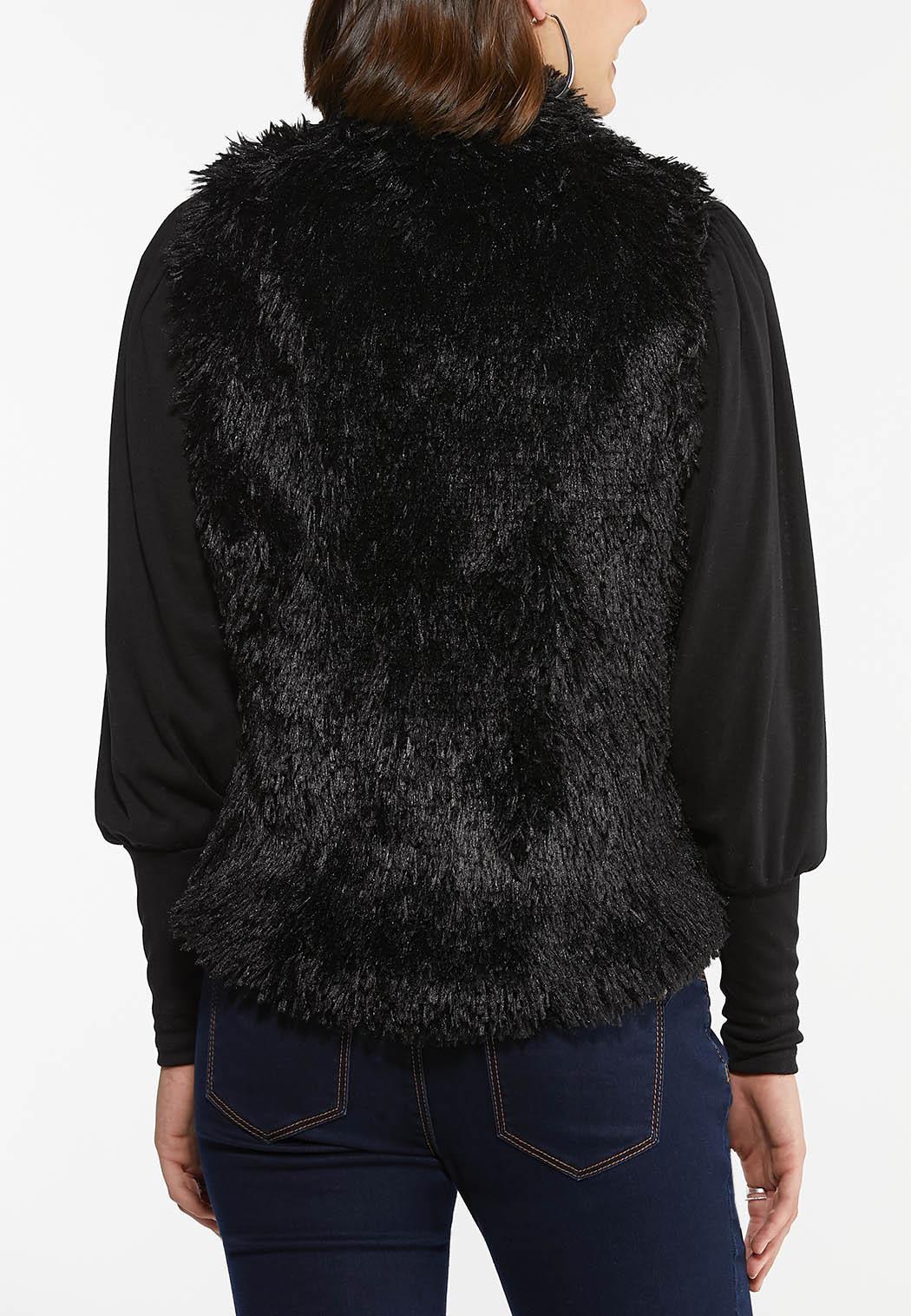 Plus Size Shaggy Draped Vest (Item #44411983)