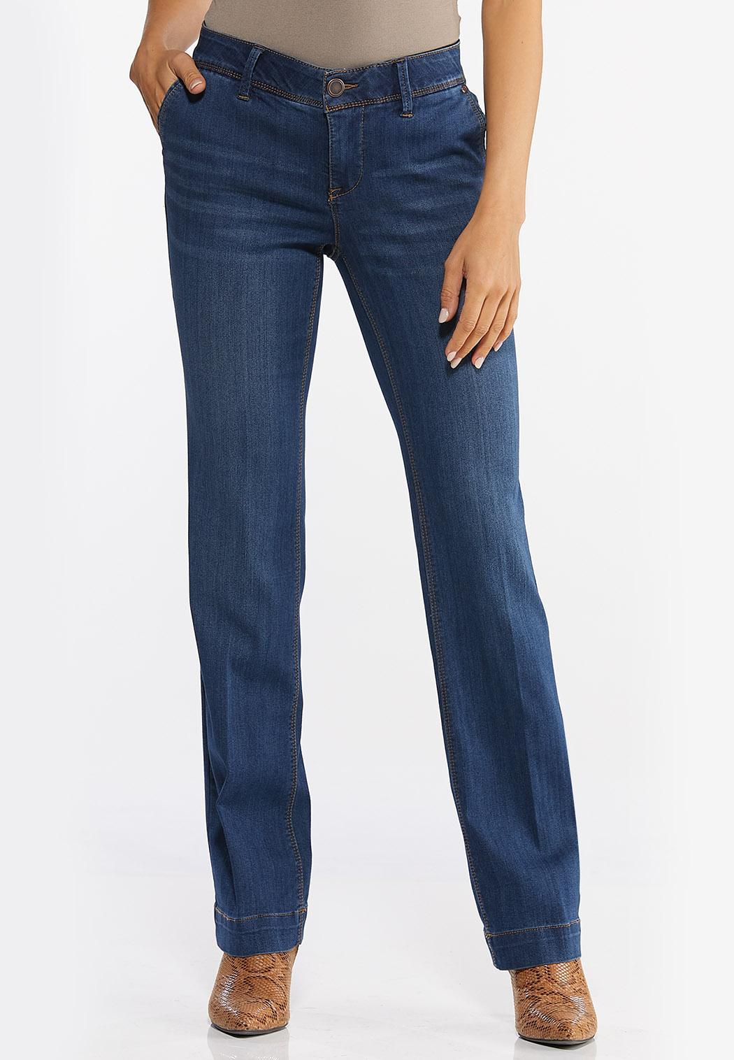 Petite Trouser Leg Jeans (Item #44412103)