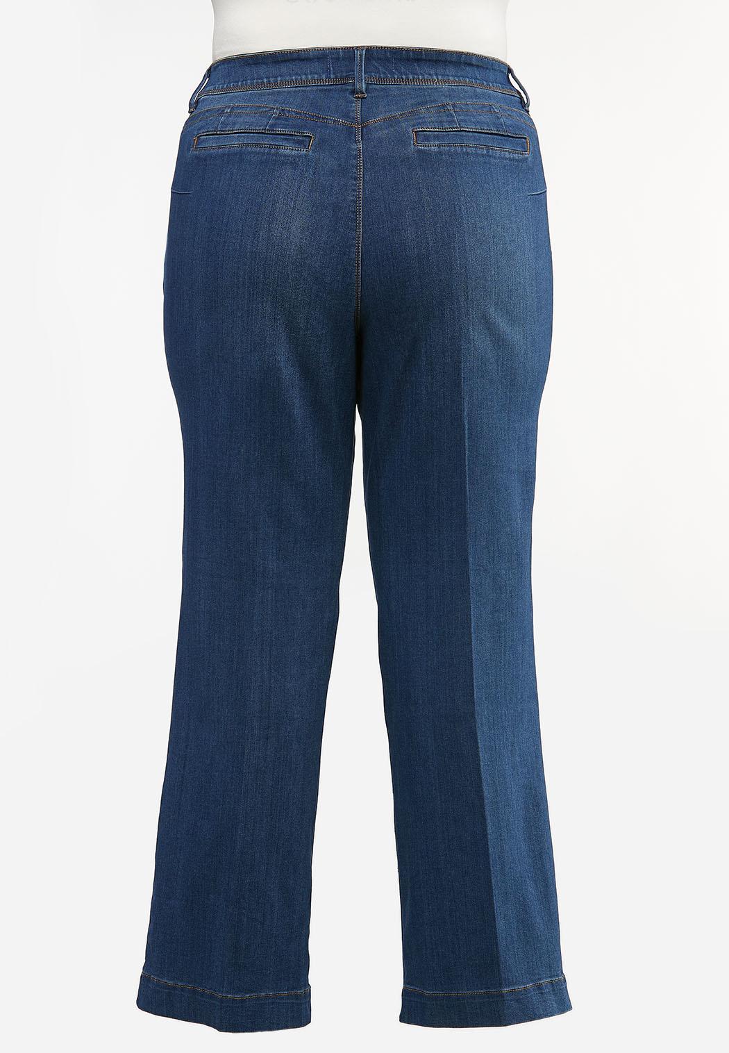 Plus Size Trouser Leg Jeans (Item #44412120)
