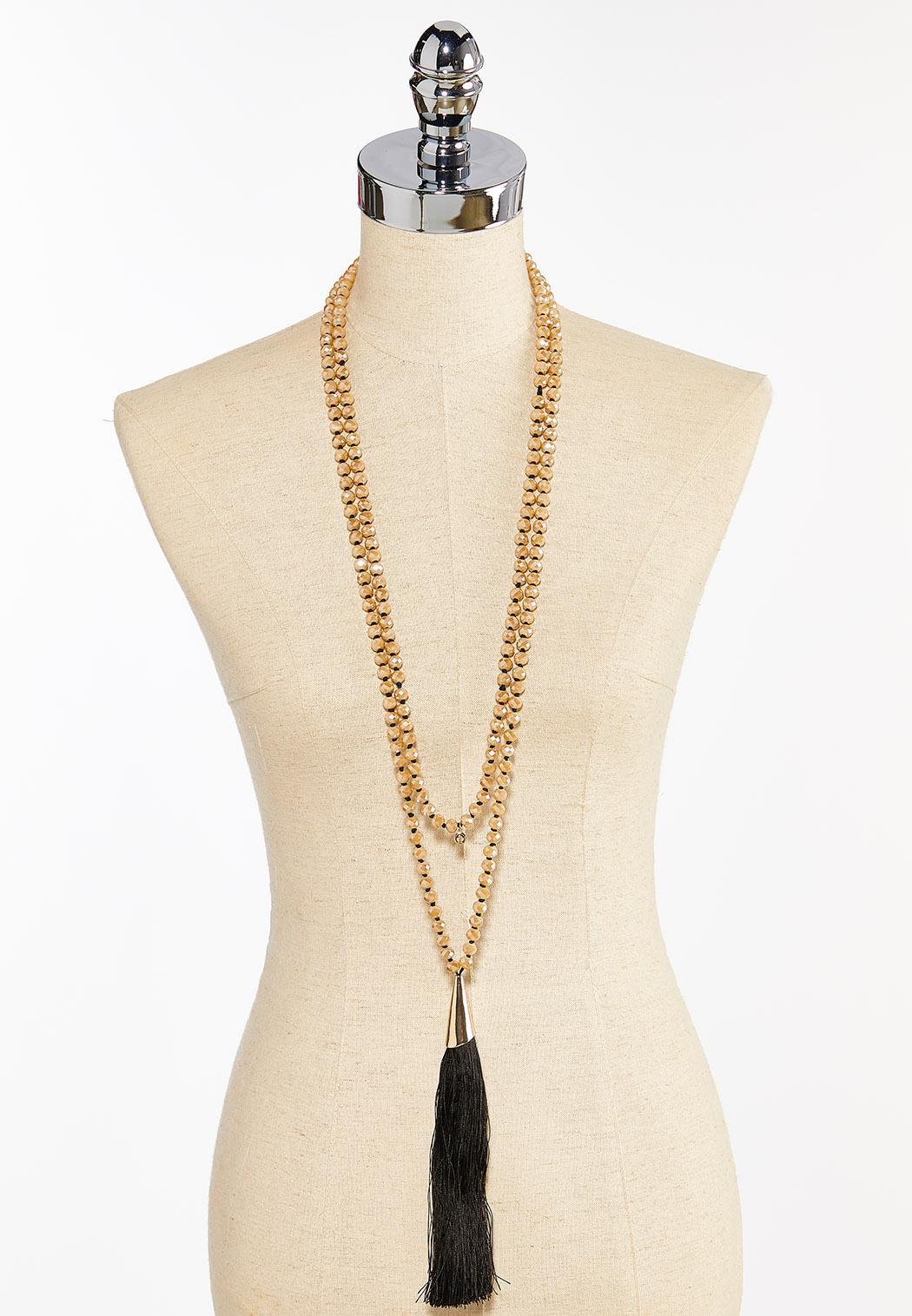 Long Layered Tassel Necklace (Item #44412462)