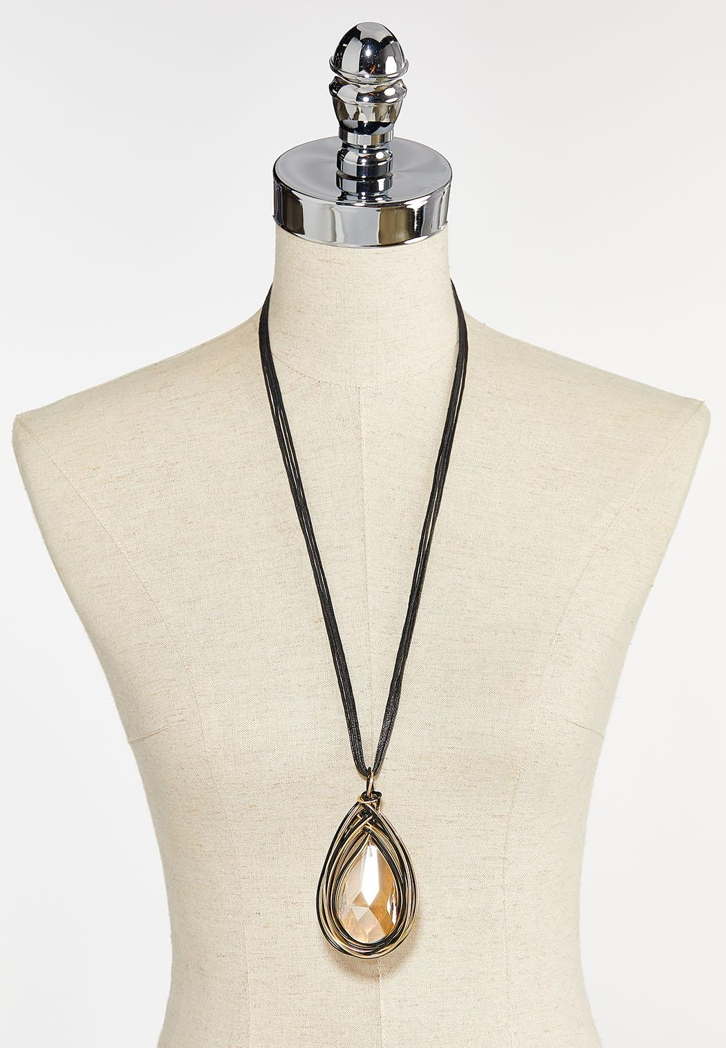 Wire Wrapped Pendant Necklace (Item #44412642)