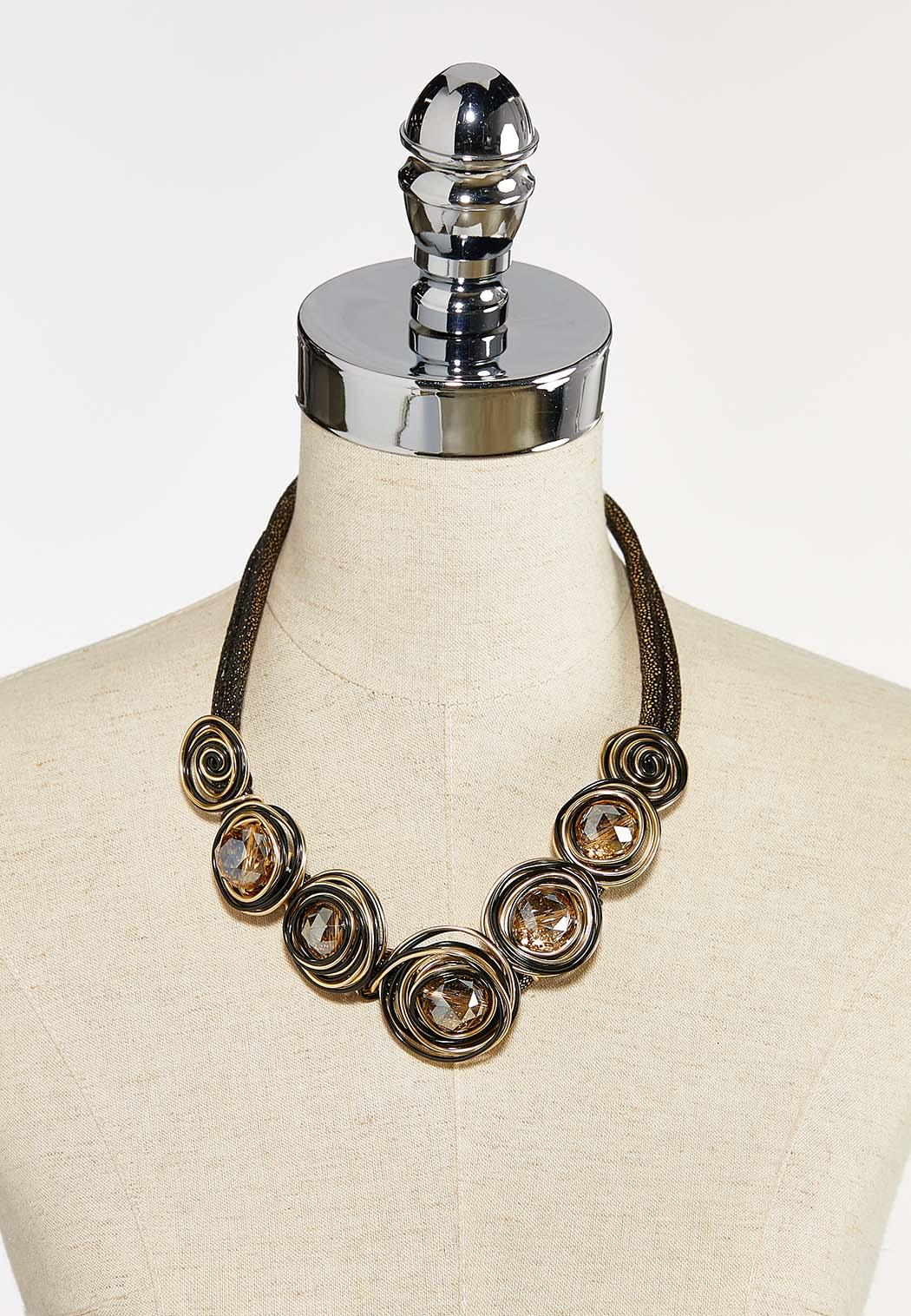 Two-Toned Metallic Cord Necklace (Item #44412644)