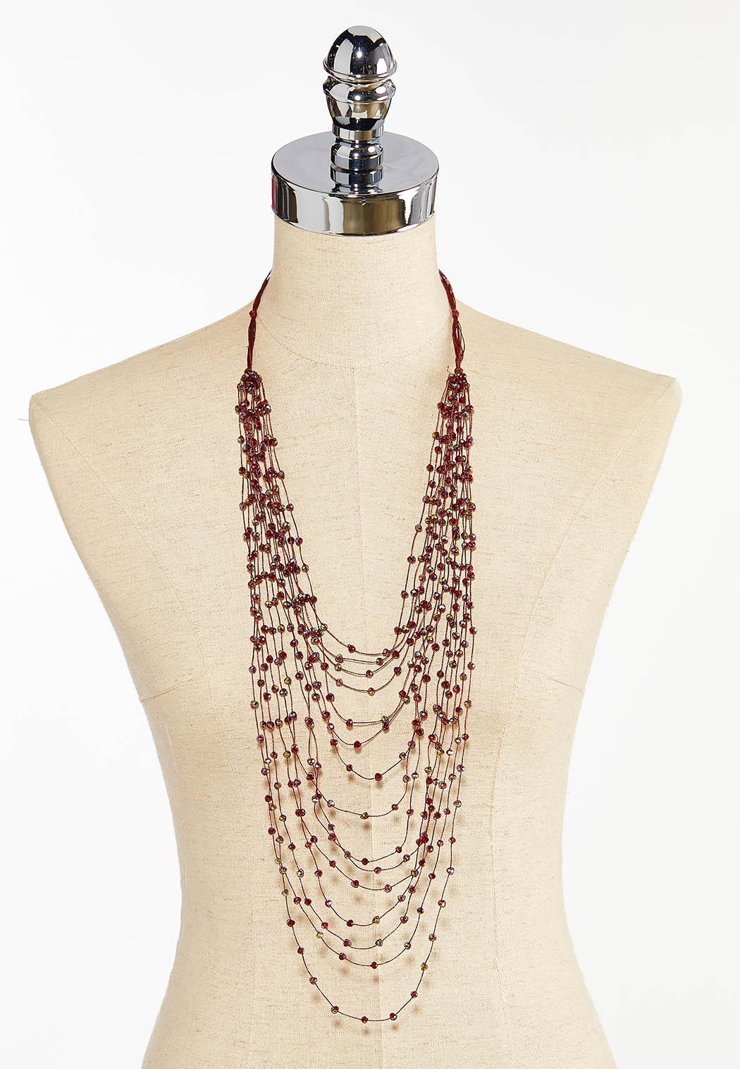 Crystal Layer Merlot Necklace (Item #44412652)