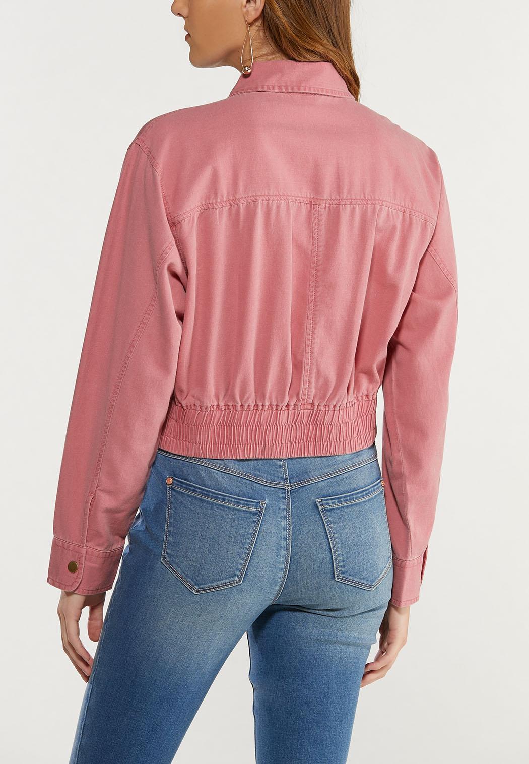 Plus Size Dusty Rose Utility Jacket (Item #44412806)