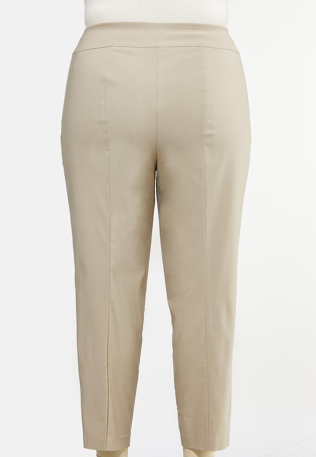 Plus Size Solid Bengaline Pants (Item #44412959)