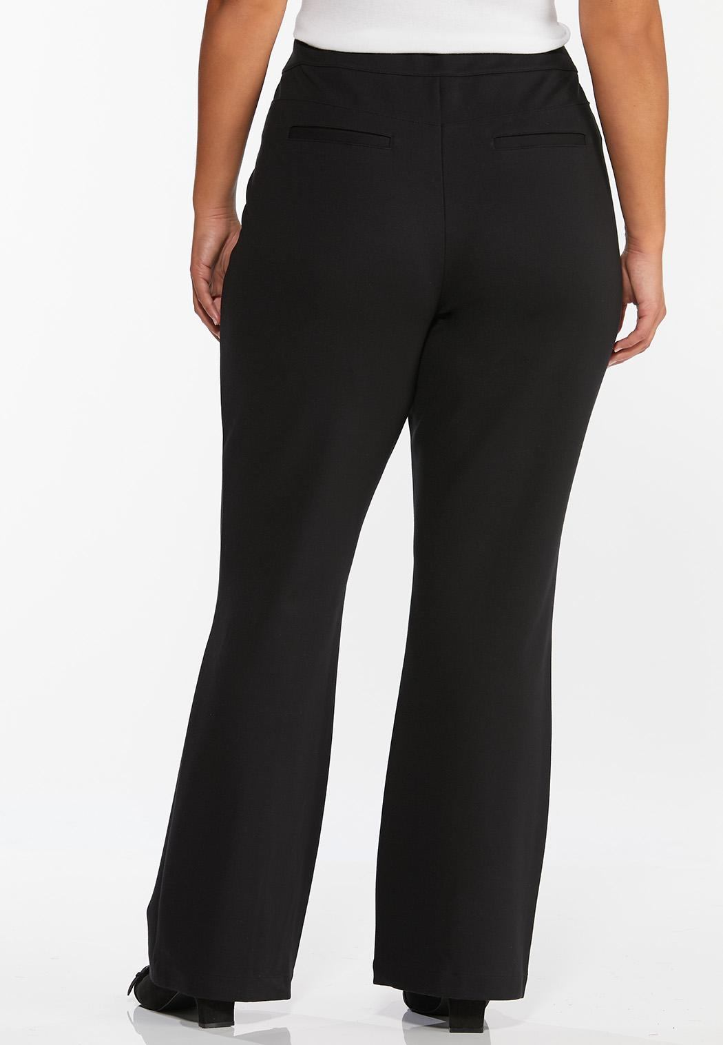 Plus Size Pintuck Flare Leg Pants (Item #44412993)