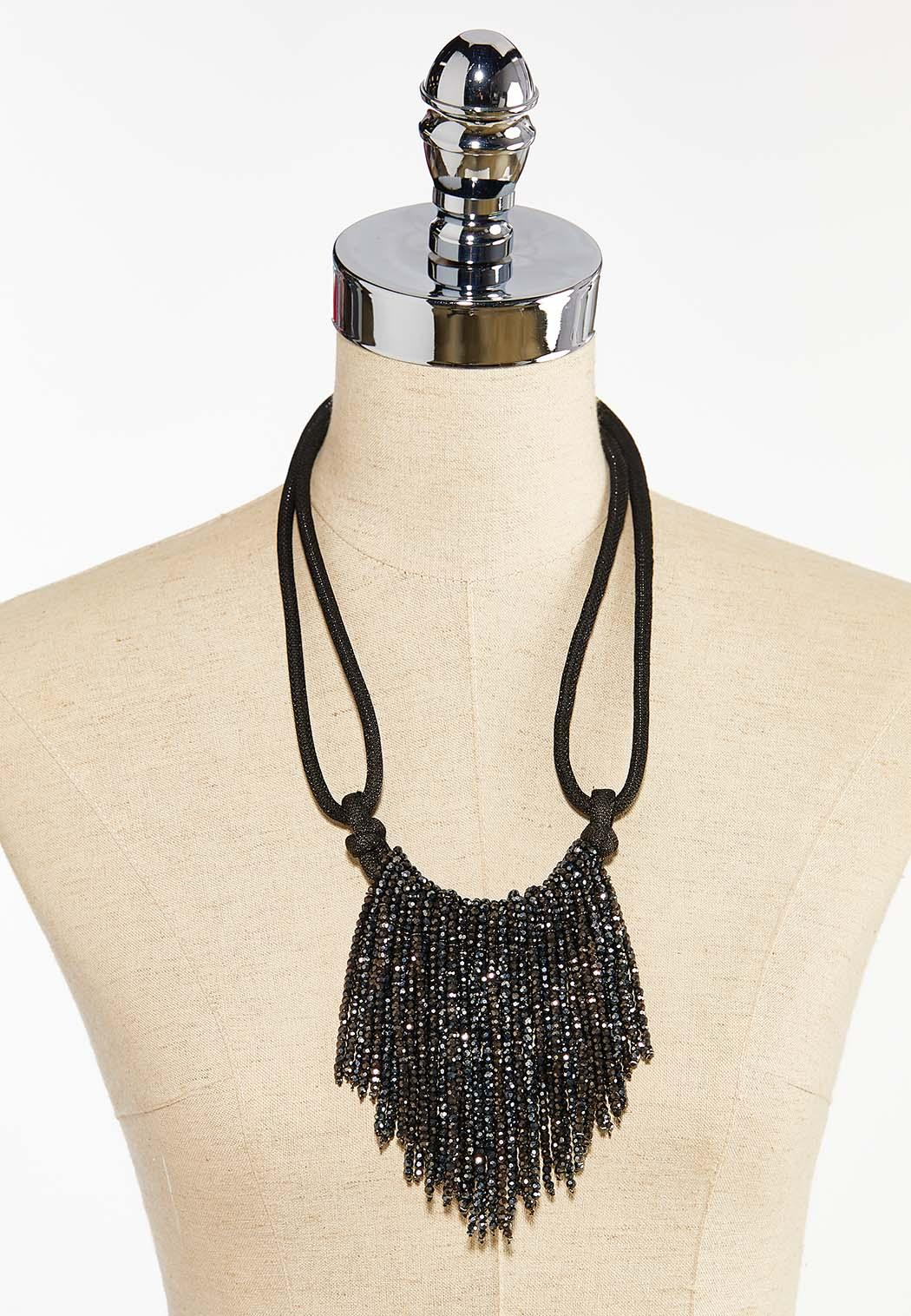 Crystal Fringe Bib Necklace (Item #44413062)