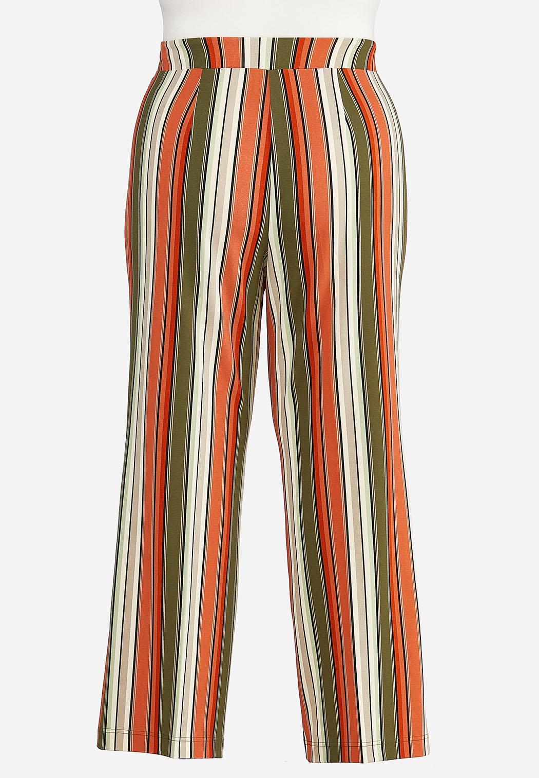 Plus Size Spicy Striped Wide Leg Pants (Item #44413260)
