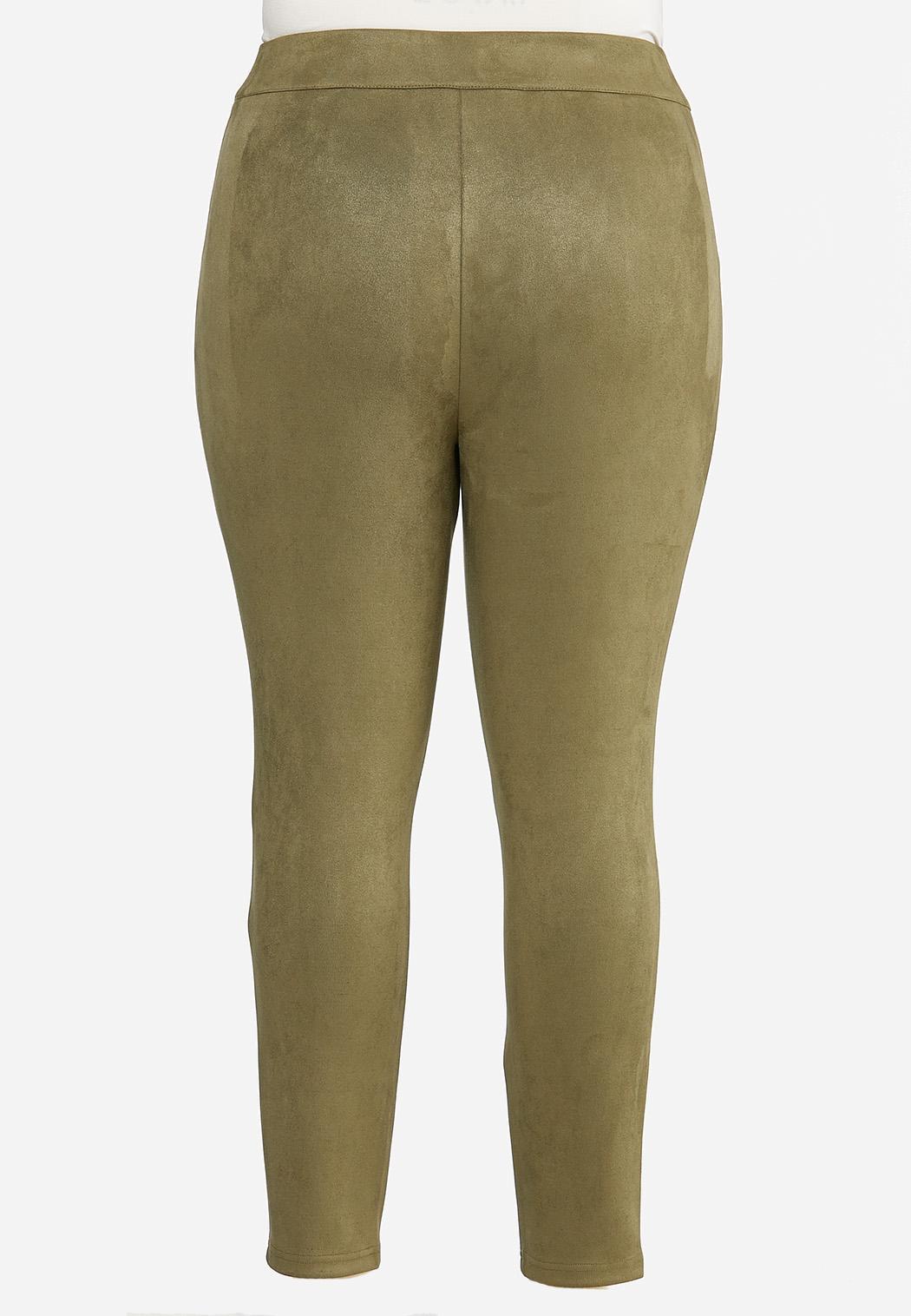 Plus Size Faux Suede Leggings (Item #44413355)