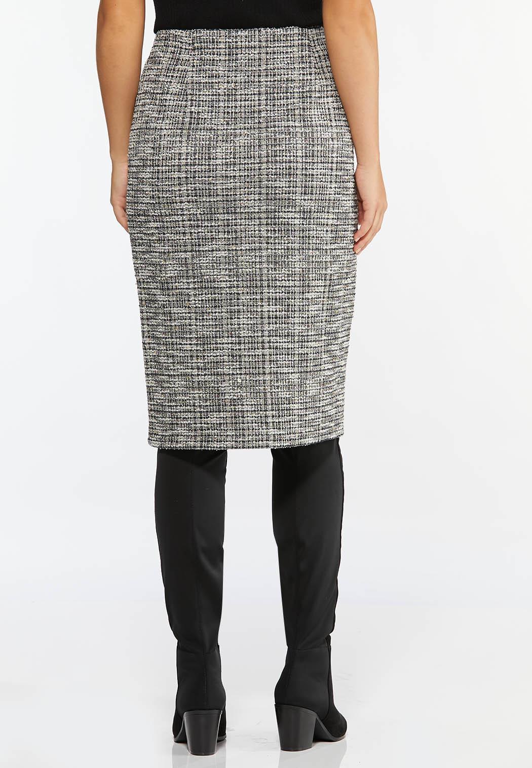 Boucle Button Pencil Skirt (Item #44413866)