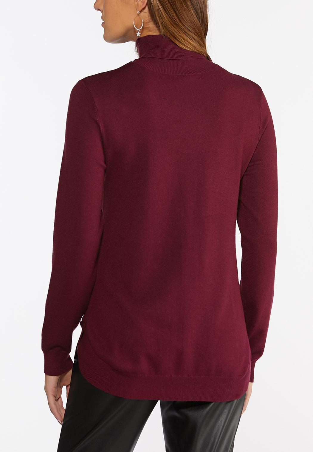 Plus Size Turtleneck Tunic Sweater (Item #44415274)
