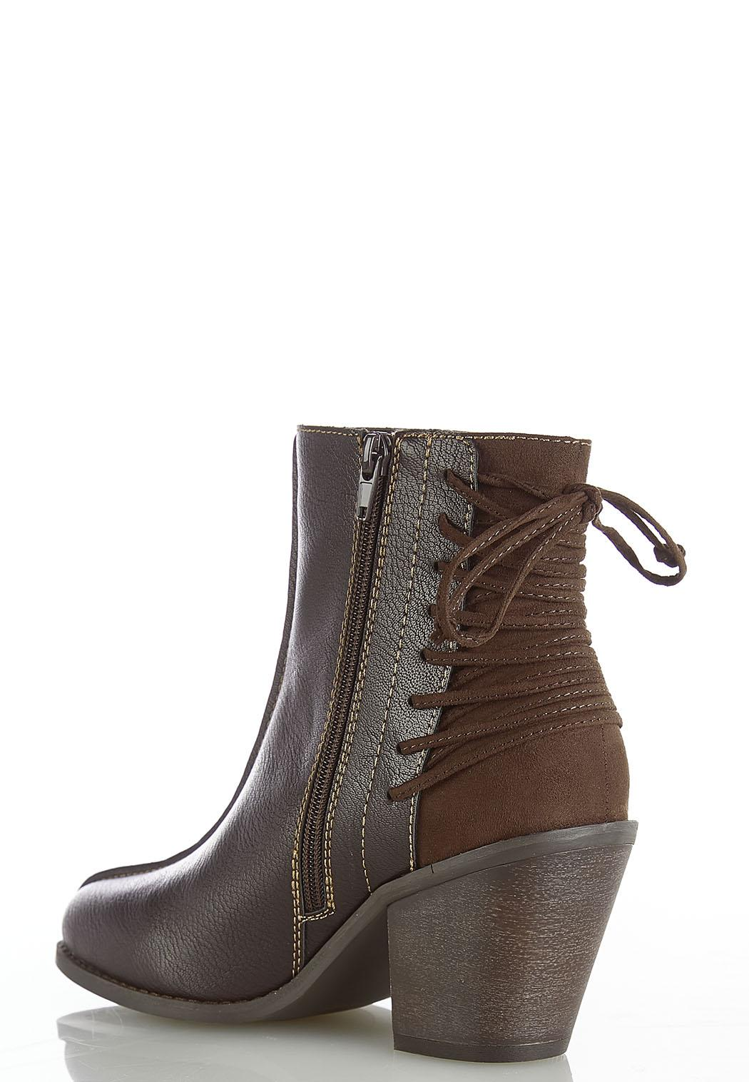 Wide Width Back Lace Up Boots (Item #44415465)