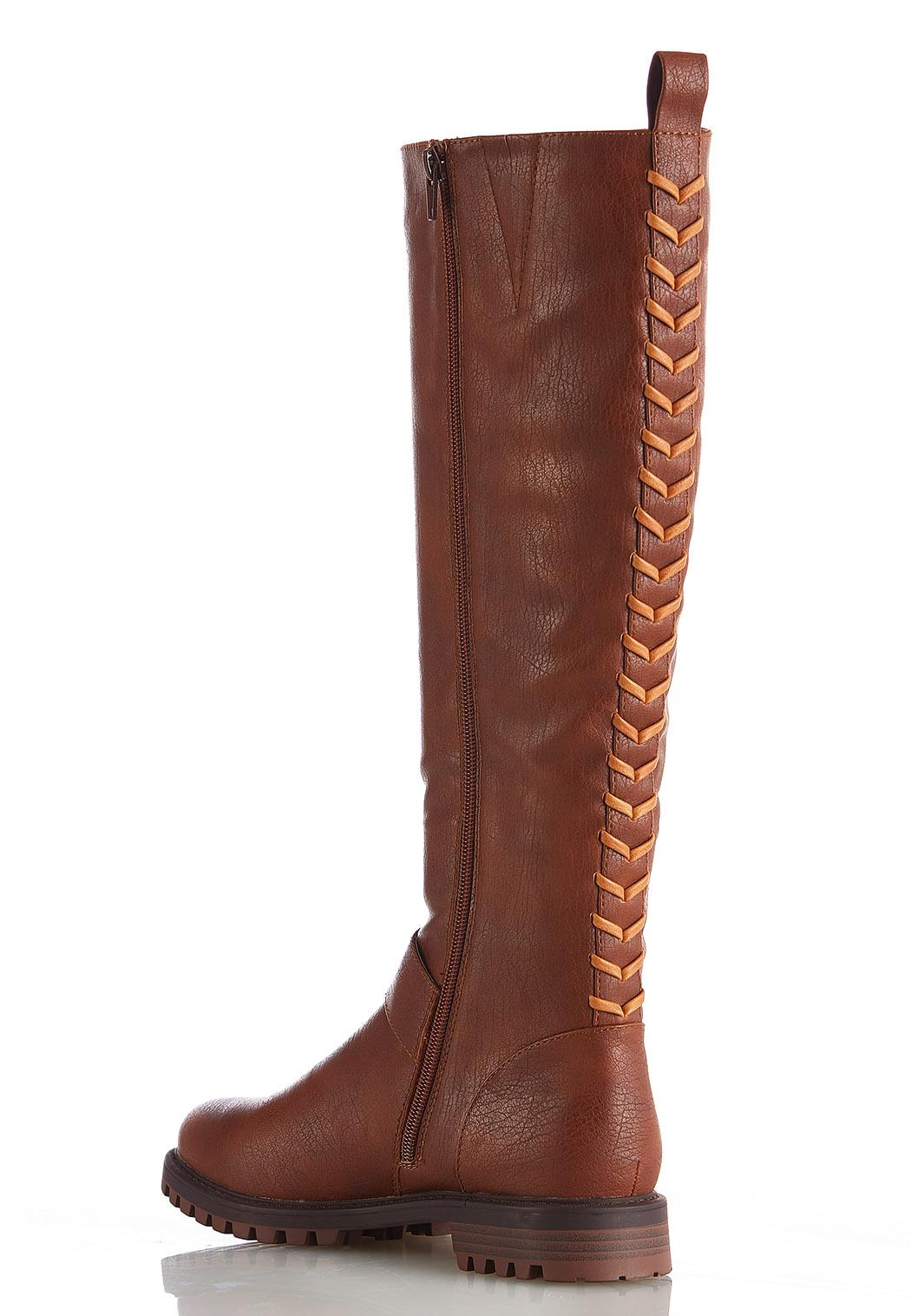 Wide Width Whipstitch Back Riding Boots (Item #44416324)