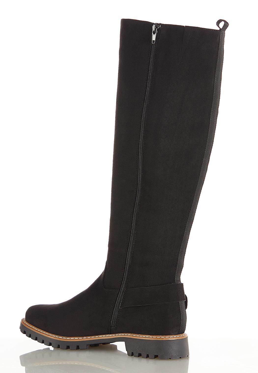 Buckle Lug Riding Boots (Item #44416354)