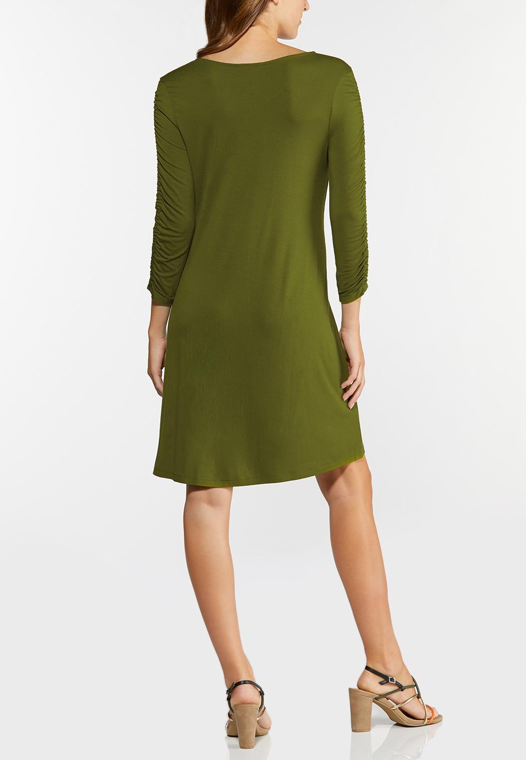 Ruched Sleeve Swing Dress (Item #44417077)