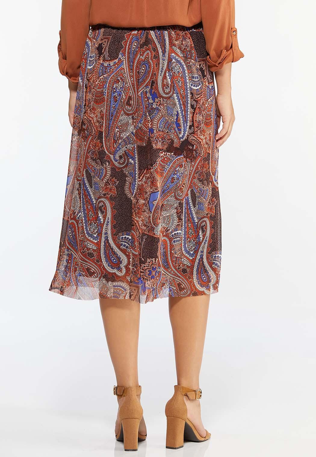 Plus Size Paisley Mesh Skirt (Item #44417614)