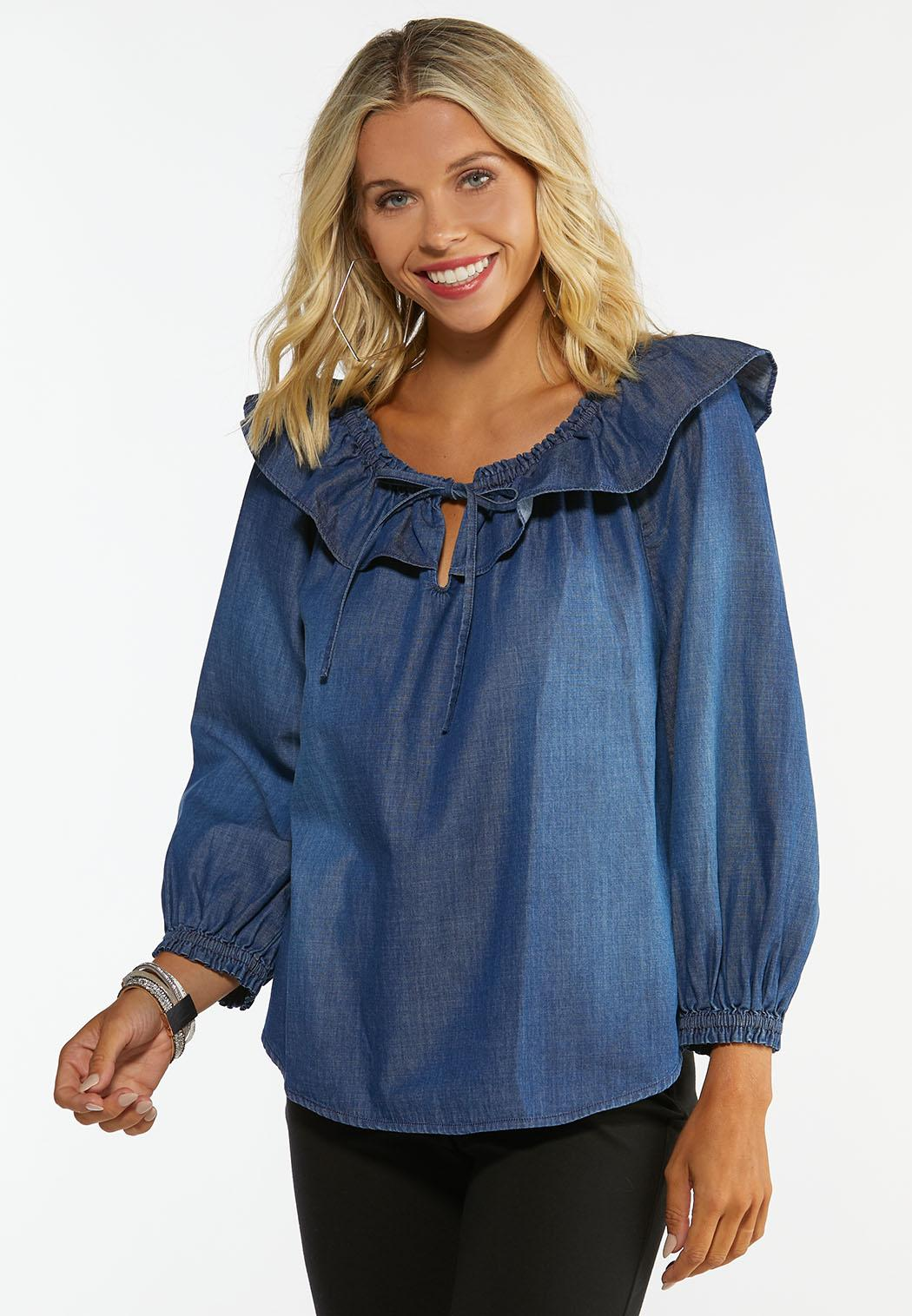 Convertible Chambray Poet Top (Item #44419495)
