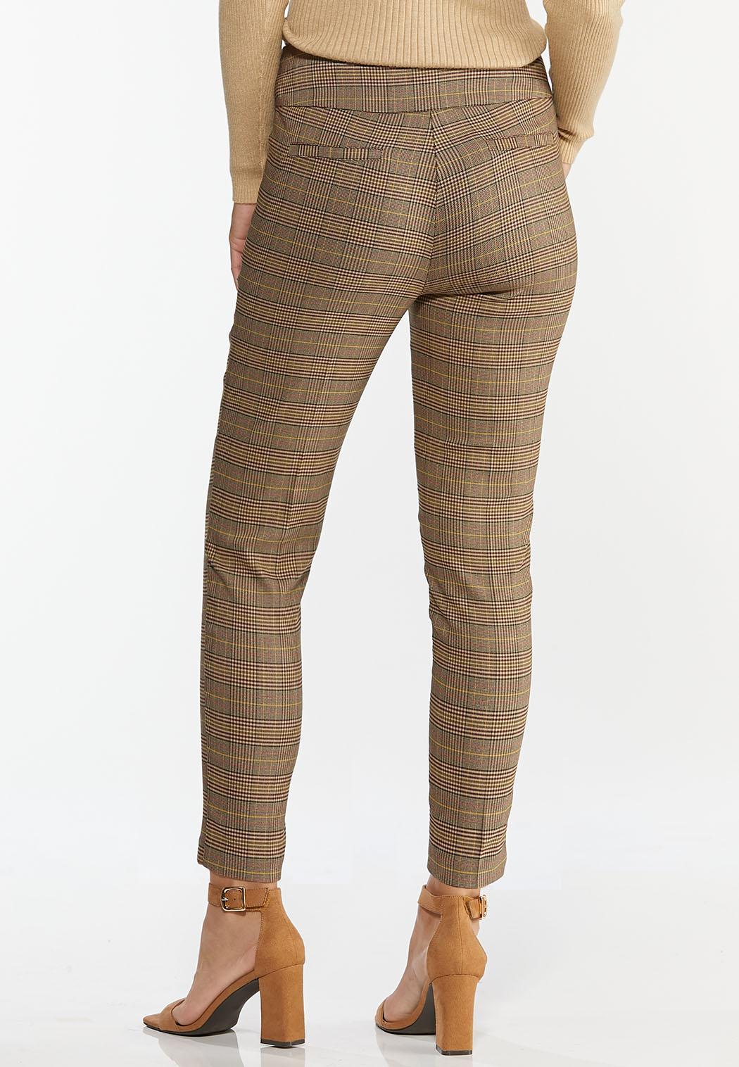Chestnut Plaid Pull-On Pants (Item #44420519)