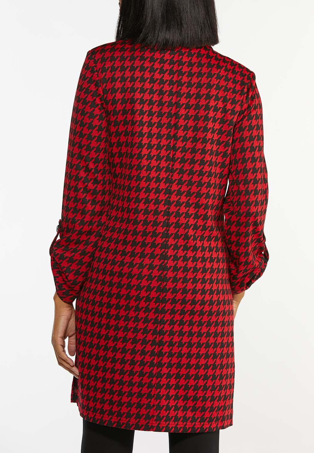 Plus Size Red Houndstooth Jacket (Item #44422165)