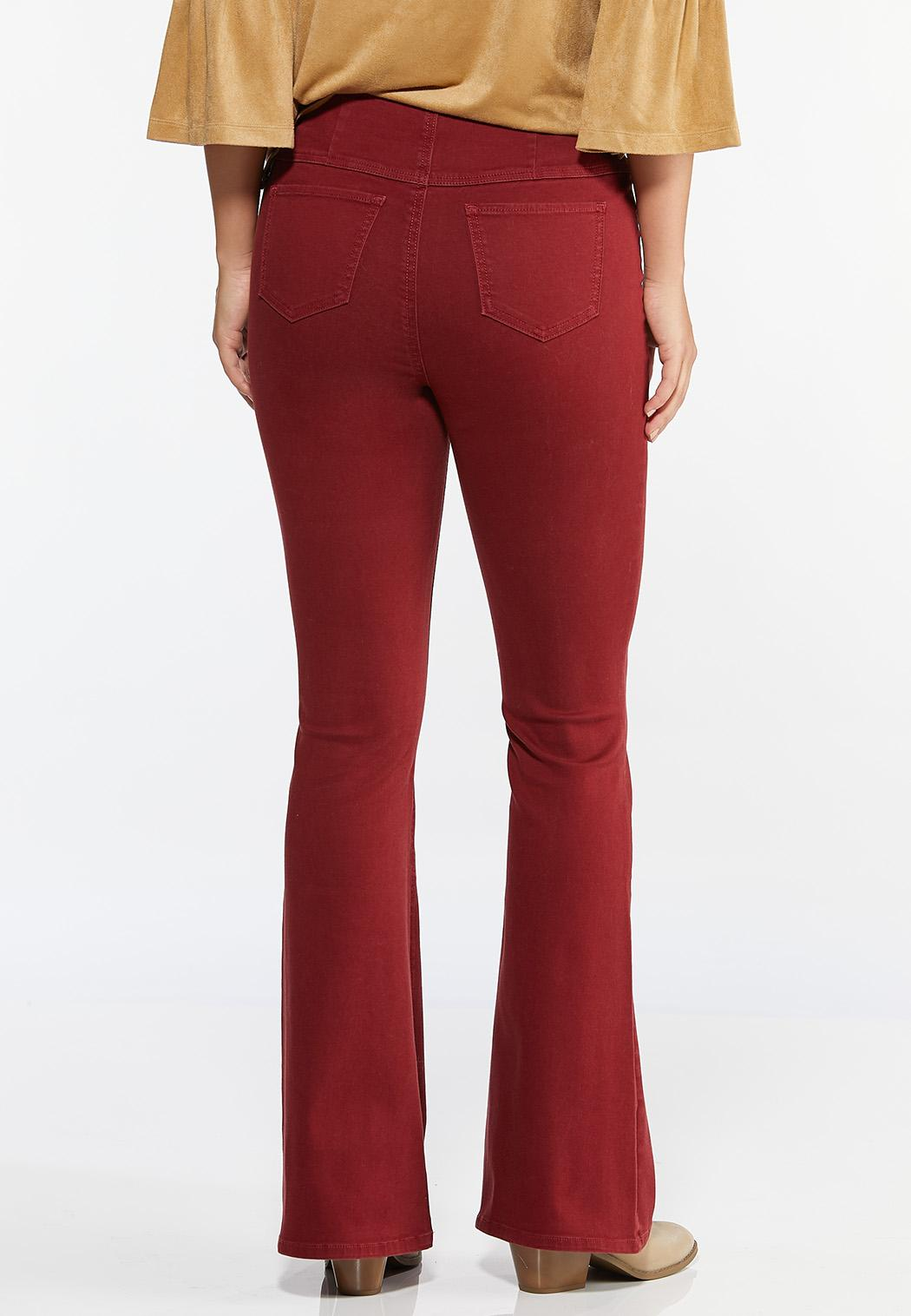 Red Flare Jeans (Item #44422814)