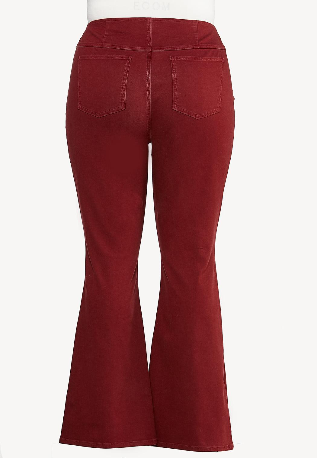 Plus Size Red Flare Jeans (Item #44422857)