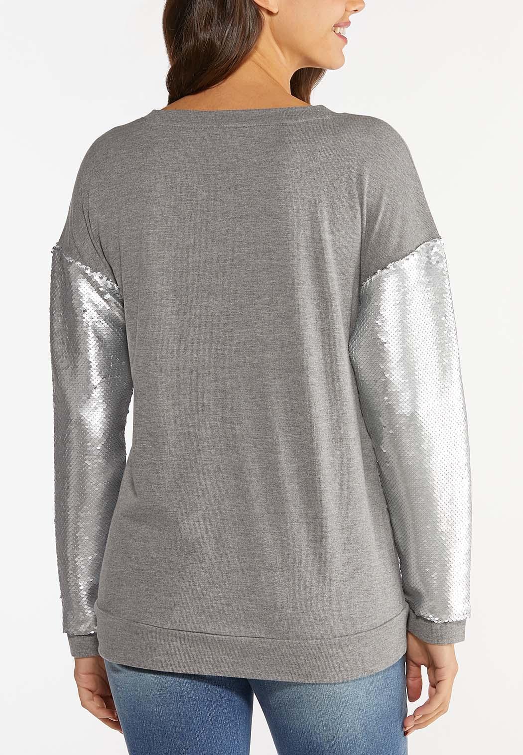 Sequin Sleeve Sweatshirt (Item #44425946)