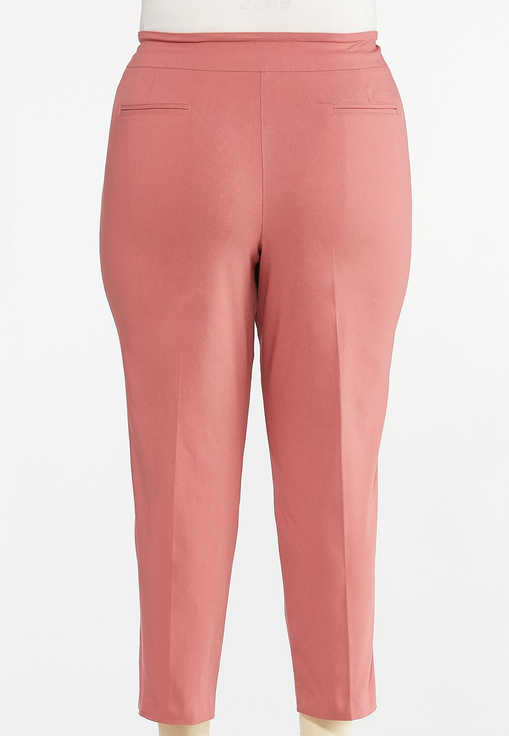 Plus Size Dusty Rose Bengaline Pants (Item #44426305)