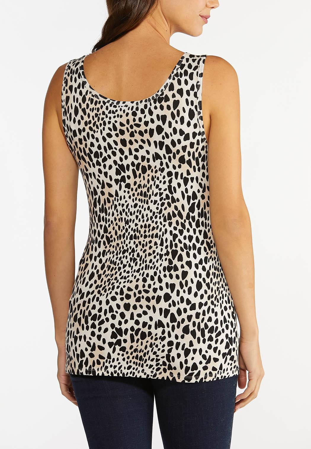 Plus Size Soft Leopard Tank (Item #44427333)