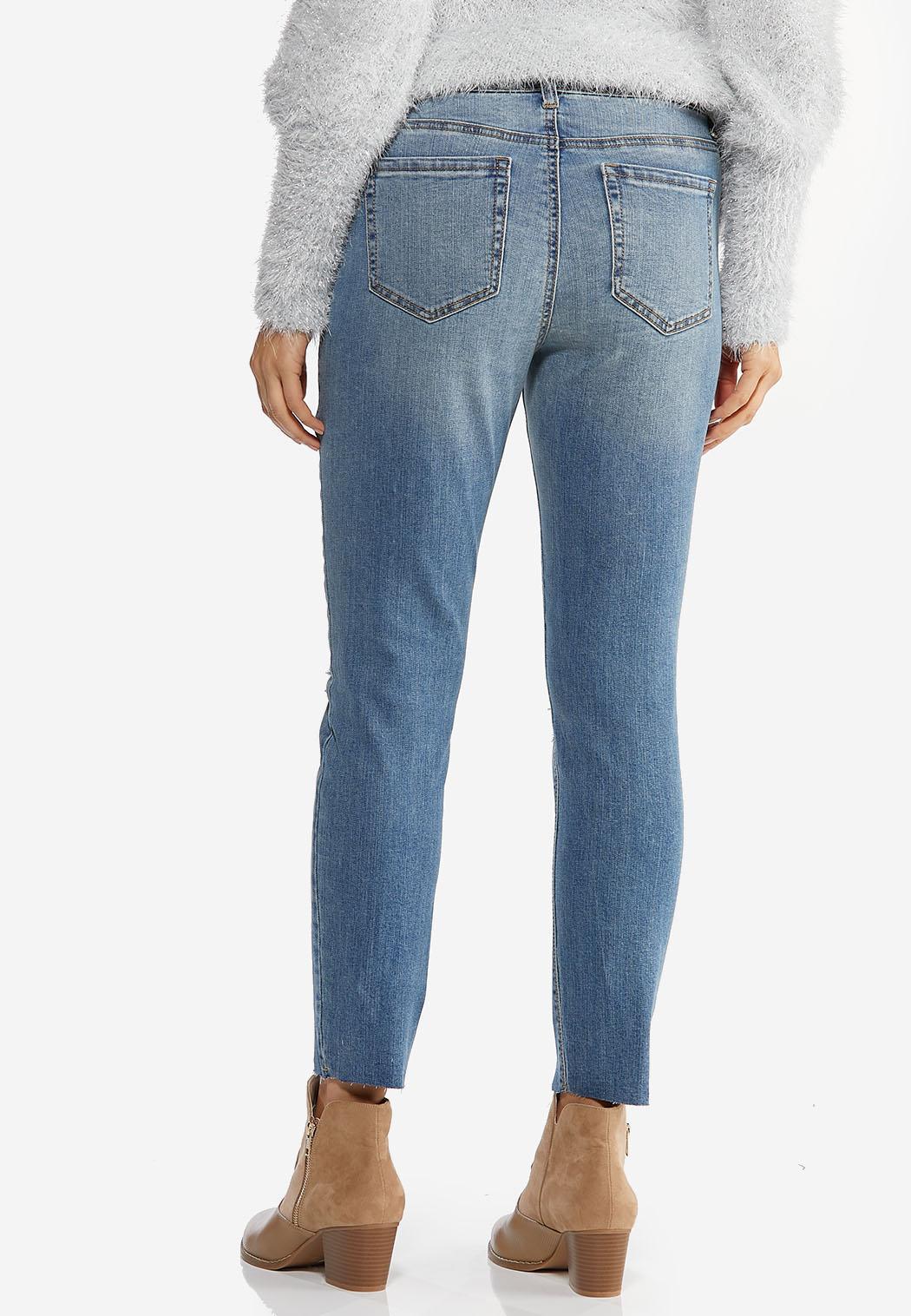 Distressed Skinny Ankle Jeans (Item #44427341)