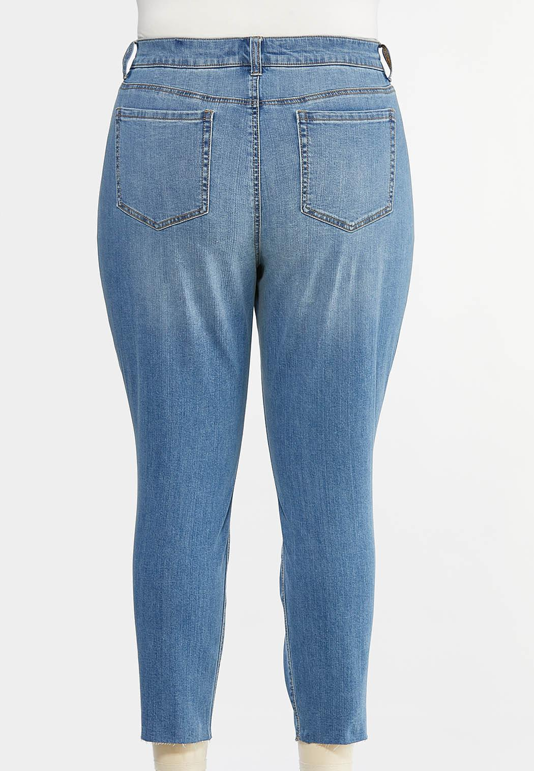 Plus Size Distressed Skinny Ankle Jeans (Item #44427419)
